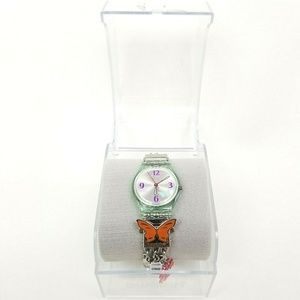 Swatch Watch Butterfly Charms Bangle Bracelet